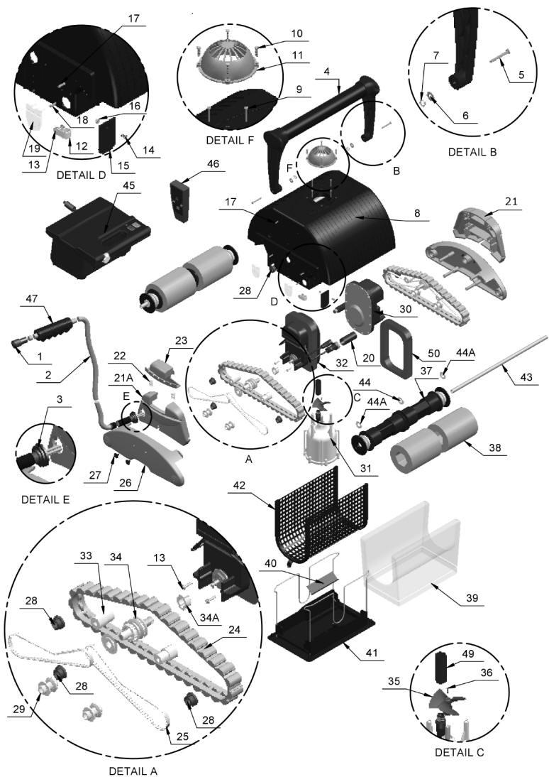 Water Tech Blue Diamond Rc Amp Aquabot Viva Parts