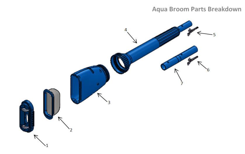 Water Tech Pool Blaster Aqua Broom Parts Aquaquality Pools