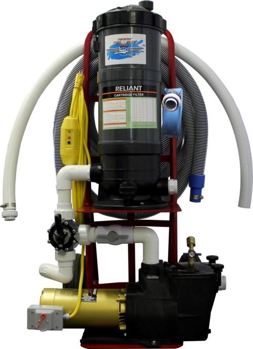 Top Gun Pro Portable Pool Vacuum Cleaner W Gunite Head
